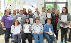 Abschlussfeier mit Zertifikat im euvea-Hotel in Neuerburg