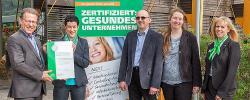 """Westeifel Werke erhalten Zertifikat als """"Gesundes Unternehmen"""""""