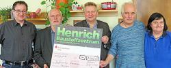 LHWG erhalten Spende von Henrich Baustoffzentrum