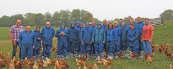 Westeifel Werke und EuWeCo besuchen Bio-Hühnerhof Schneifel